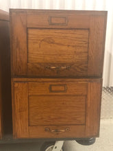 4 ANTIQUE LARGE LEGAL SIZED TIGER OAK STACKABLE FILE CABINETS, Circa 1890-1910