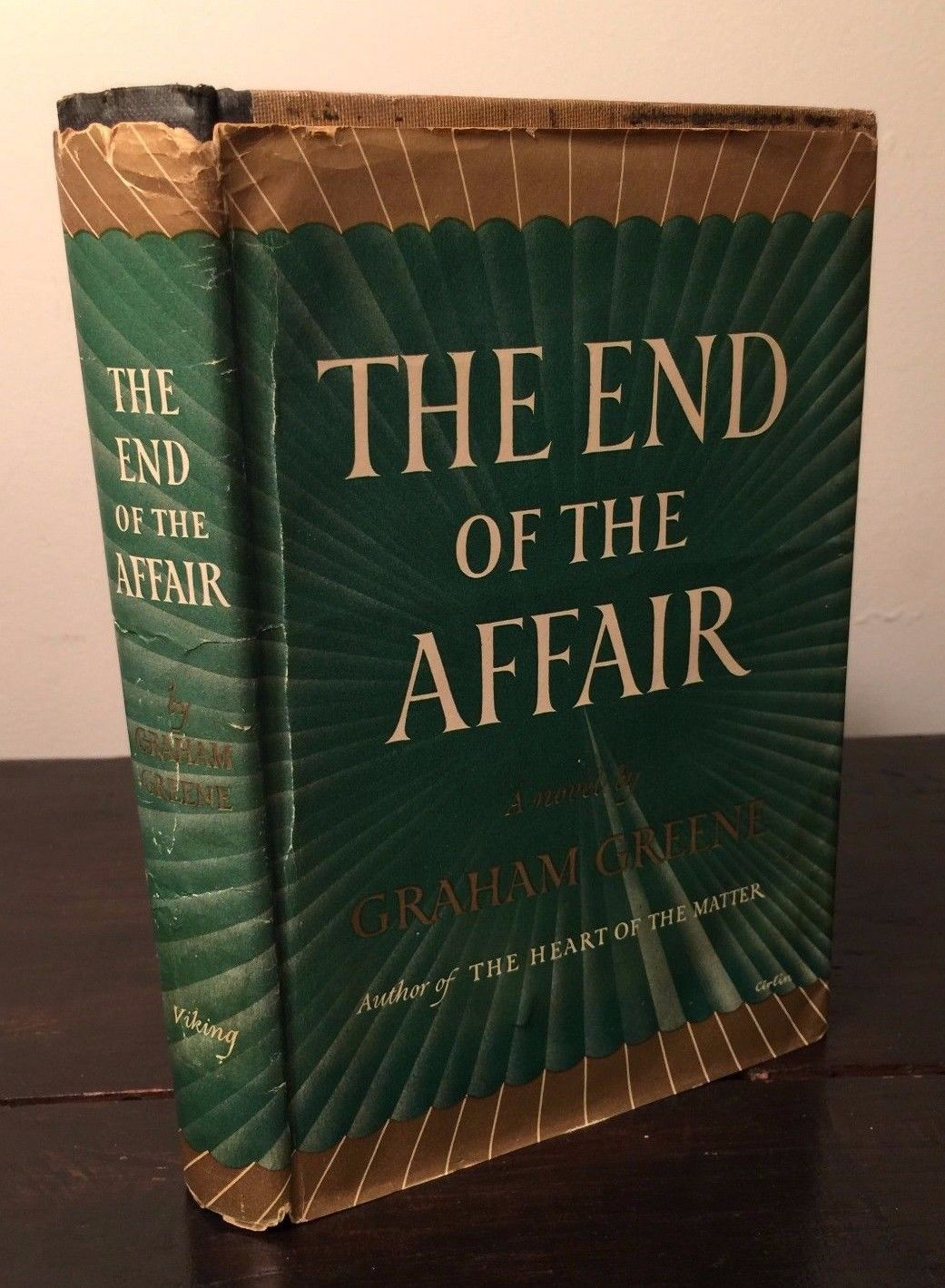 THE END OF THE AFFAIR by Graham Greene — First Ed., First Printing 1951 HC/DJ