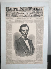 Rare ABRAHAM LINCOLN Beardless Republican President Nominee Harpers Weekly, 1860