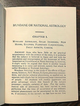 ALAN LEO - MUNDANE ASTROLOGY, ASTROLOGICAL MANUAL No. 13 - OCCULT ZODIAC, 1910