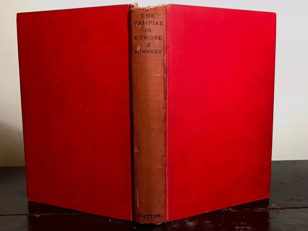 THE VAMPIRE IN EUROPE - MONTAGUE SUMMERS - 1st / 1st 1929 OCCULT VAMPIRES