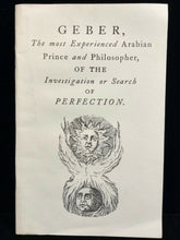 OF THE INVESTIGATION OR SEARCH OF PERFECTION - Geber, 1983 - OCCULT ALCHEMY