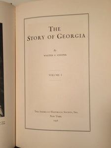 STORY OF GEORGIA, Walter Cooper, 1st/1st 1938 4-Volume Set, Illustrated RARE