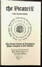 THE PICATRIX: LIBER ATRATUS EDITION, ASTROLOGICAL MAGIC - 1st Ed, 2010 GRIMOIRE