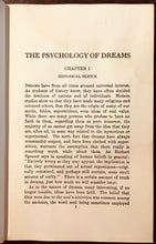PSYCHOLOGY OF DREAMS - Walsh, 1920 - DREAMS NIGHTMARES PROPHECY MEANINGS