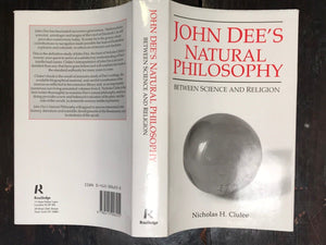 JOHN DEE'S NATURAL PHILOSOPHY - N. CLULEE 1st/1st 1988, Scarce ALCHEMY ASTROLOGY