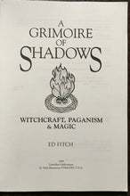 GRIMOIRE OF SHADOWS - Ed Fitch, 1st Ed 1999 - WITCHCRAFT MAGICK PAGANISM WICCA