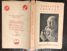 ALEISTER CROWLEY: The Man, The Mage, The Poet - Charles Cammell, 1st 1962 OCCULT