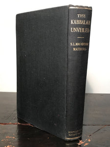 THE KABBALAH UNVEILED, S.L. MacGregor Mathers, 1st/8th 1957 Kabbalah Golden Dawn