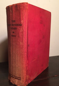 FIRST HUNDRED YEARS: SHORT HISTORY COBB COUNTY GEORGIA S.Temple 1st 1935, SIGNED