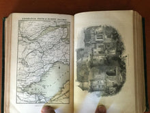 BLACK'S PICTURESQUE TOURIST OF SCOTLAND w/ Traveling Map, A. Black, 1859, Rare
