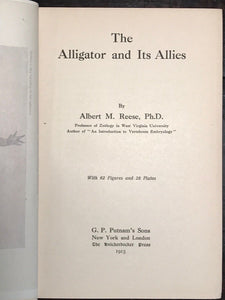 1915 - THE ALLIGATOR AND ITS ALLIES - Reese, 1st/1st - 65 Figures and 28 Plates