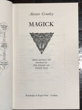 MAGICK ~ ALEISTER CROWLEY, SYMONDS, Grant, 1st/1st 1973 HC/DJ w/ PRINTER'S ERROR