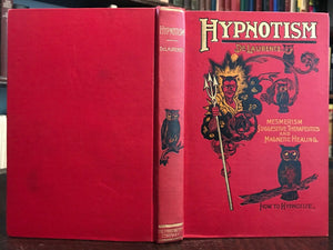 HYPNOTISM - L.W. De Laurence, VERY SCARCE TRUE 1st Ed, 1900 - MESMERISM OCCULT