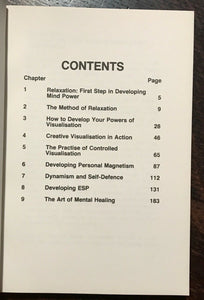 COMPLETE BOOK OF MIND POWER - Rodney (Finbarr), 1980 ESP VISUALIZATION MANIFEST