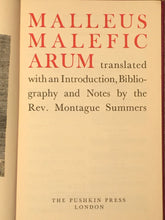 MALLEUS MALEFICARUM Rev. Montague Summers, 1951 Witchcraft Occult, BINDING ERROR