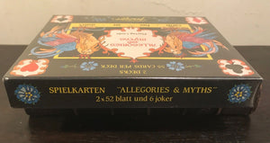 "SEALED, Mint Double Deck - Fournier ""Allegories and Myths"" Playing Cards, 1990"