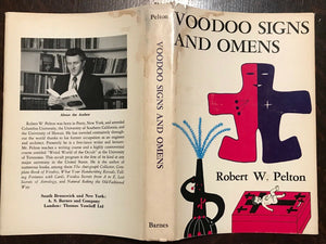 VOODOO SIGNS AND OMENS - Pelton, 1st 1974 WITCHCRAFT HEX SPELLS GRIMOIRE CONJURE