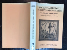 ANCIENT ASTROLOGY THEORY & PRACTICE, Bram 1975 Occult Hermetic FIRMICUS MATERNUS