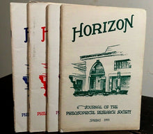 MANLY P. HALL - HORIZON JOURNAL - Full YEAR, 4 ISSUES, 1955 - PHILOSOPHY OCCULT
