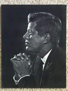 Vintage YOUSUF KARSH Photogravure Portrait Art Photo, 1960s JOHN F. KENNEDY JFK