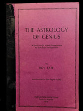 THE ASTROLOGY OF GENIUS: A Study of the Nobel Prizewinners - Tate, 1st Ed 1975