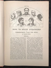 HOW TO STUDY STRANGERS BY TEMPERAMENT, FACE & HEAD - SIZER, 1st 1895, Phrenology