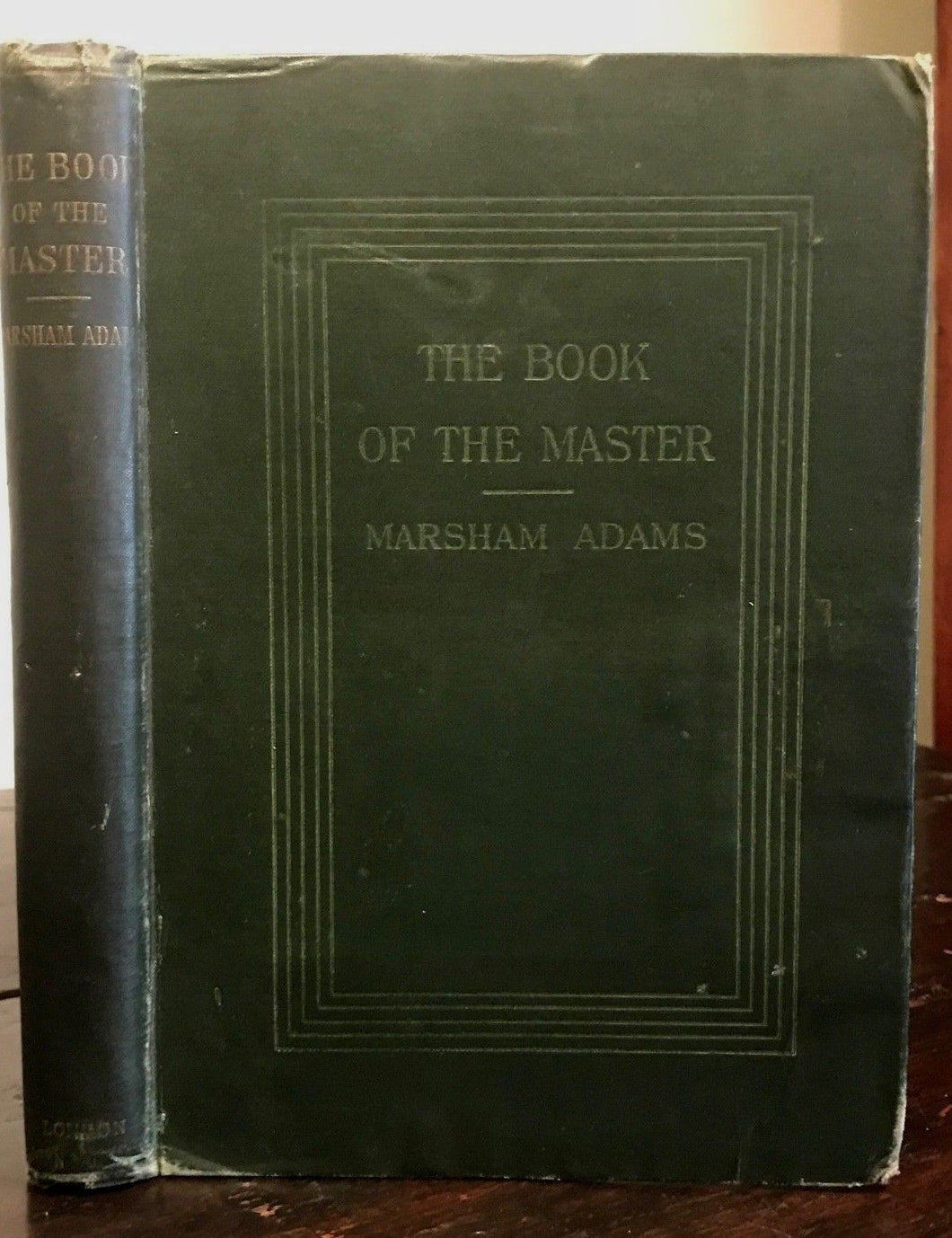 1898 - BOOK OF THE MASTER or EGYPTIAN DOCTRINE OF LIGHT BORN OF VIRGIN - ADAMS