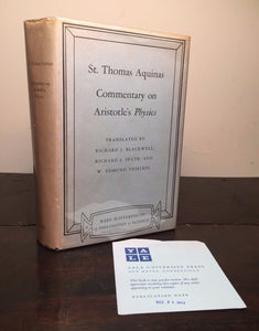 COMMENTARY ON ARISTOTLE'S PHYSICS ST. THOMAS AQUINAS 1st/1st 1963 Review Copy