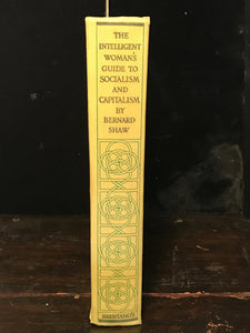 THE INTELLIGENT WOMAN'S GUIDE TO SOCIALISM & CAPITALISM BERNARD SHAW 1st Ed 1928