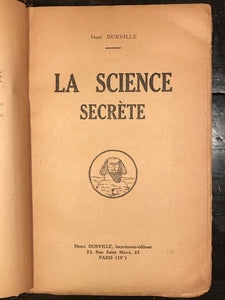 LA SCIENCE SECRETE - Henri Durville - 1st Ed, 1923 - OCCULT, SECRET SOCIETIES