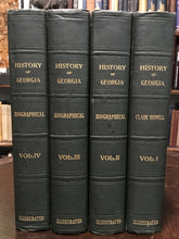 THE HISTORY OF GEORGIA by Clark Howell, 1st 1926 - Complete 4 Vols, Illustrated
