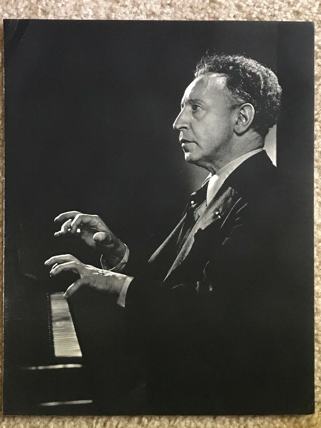 Vintage YOUSUF KARSH Photogravure Portrait Art Photo, 1960s - ARTHUR RUBINSTEIN