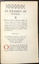 EXAMEN OF WITCHES - Boguet, 1929 Ltd Ed - WITCHCRAFT SORCERY WITCH TRIALS