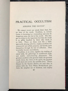 PRACTICAL OCCULTISM - W. KENILWORTH, 1st 1921 - PSYCHIC ASTROLOGY SOUL KARMA