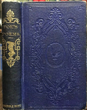 POETICAL WORKS OF EDGAR ALLAN POE with MEMOIR - 1859 Scarce Early Edition