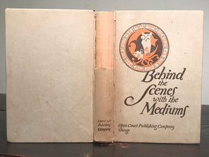 BEHIND THE SCENES WITH THE MEDIUMS - DAVID ABBOTT, 1926 - Conjuring Spirits