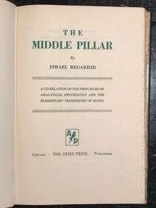 THE MIDDLE PILLAR - Israel Regardie, 1945 - Kabbalism MAGIC SECRETS ENERGIES