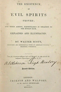 1845 - THE EXISTENCE OF EVIL SPIRITS PROVED - Sir WALTER SCOTT - FALLEN ANGELS