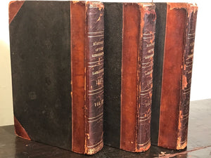 HISTORY OF THE GIRONDISTS, de LaMartine, 1st Ed 1847-48 3 Vols French Revolution