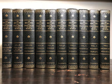 THE HISTORY AND PROGRESS OF THE WORLD - SANDERSON, 1st/1st 1914 10 Vols, Leather