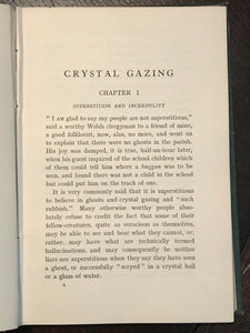 CRYSTAL GAZING - 1st London Ed VERY SCARCE, 1905 - TELEPATHIC SCRYING DIVINATION
