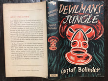 DEVILMAN'S JUNGLE by Gustaf Bolinder, 1st/1st  HC/DJ 1954, AFRICAN MAGIC DEMONS