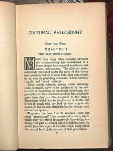 A.E. THIERENS - NATURAL PHILOSOPHY, 1st, 1920 - ASTROLOGY HERMETIC OCCULT MAGICK