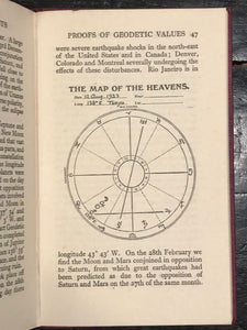 1925 - SEPHARIAL - THE THEORY OF GEODETIC EQUIVALENTS, 1st Ed, Astrology Occult
