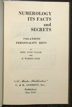 NUMEROLOGY: FACTS AND SECRETS - 1958, DIVINATION PROPHECY OCCULT FORTUNETELLING