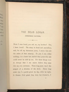 THE DEAD LEMAN AND OTHER TALES FROM THE FRENCH - Lang, Sylvester - 1st Ed, 1889