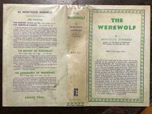 THE WEREWOLF - Montague Summers - 1st Ed, 1933 OCCULT WITCHCRAFT LYCANTHROPY