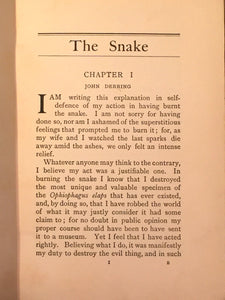 THE SNAKE F. Inglis Powell 1st/1st 1912 Vampire Cult of Kali India Gothic Horror