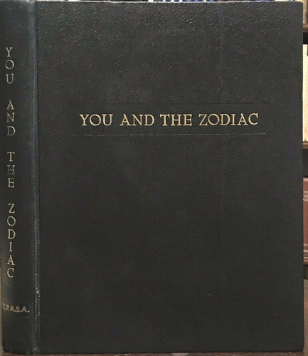 YOU AND THE ZODIAC - 1st Ltd Ed, 1959 ASTROLOGY ZODIAC PERSONALITIES MAPS POSTER